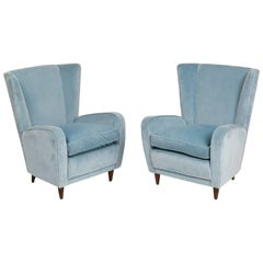 Paolo Buffa Original Pair of Armchairs from the Hotel Bristol, Merano, 1950s