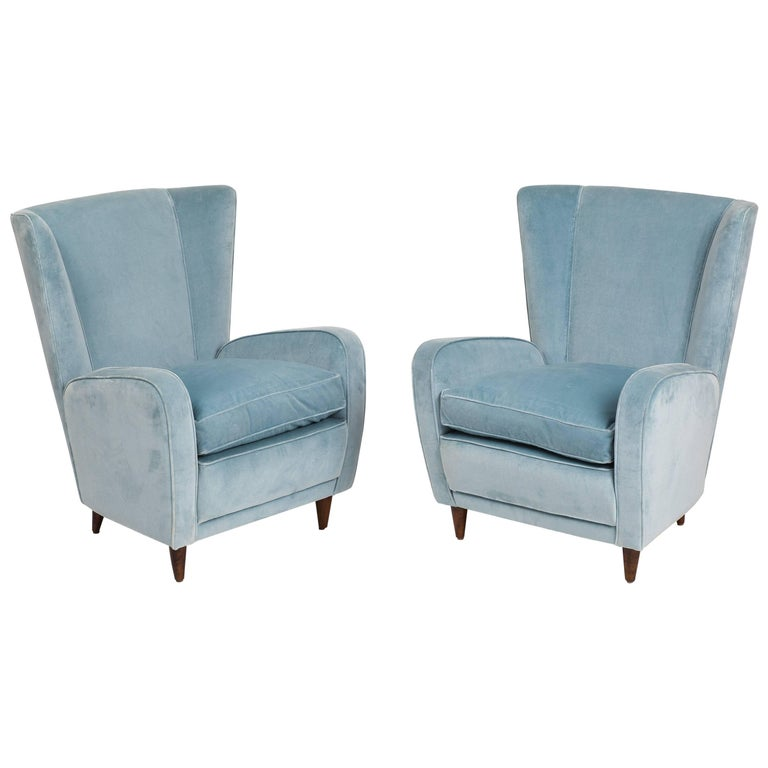 Paolo Buffa Pair of Armchairs from the Hotel Bristol, Merano