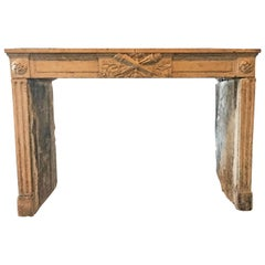 Antique Burgundy Limestone Mantel, circa 1780