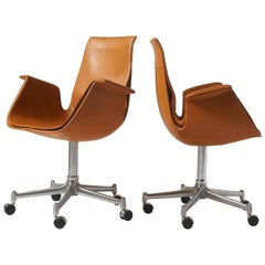 "Pair of ""Bird"" Chairs by Preben Fabricius & Jorgen Kastholm"