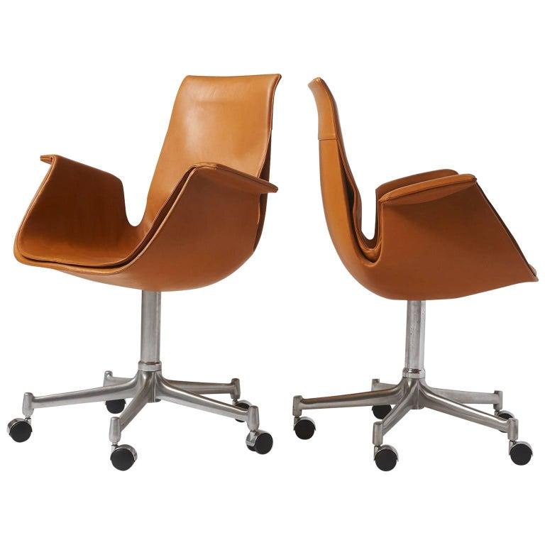 """Pair of """"Bird"""" Chairs by Preben Fabricius & Jorgen Kastholm"""