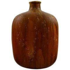 Marcello Fantoni, Italy Ceramic Vase, Glaze in Brown Tones, 1970s