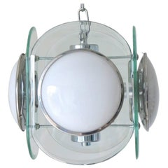 Italian Beveled Glass Pendant