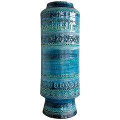 Aldo Londi Remini Blu Large Ceramic Vase for Bitossi