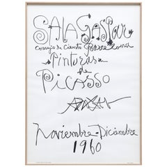 "Original Picasso Lithography, ""Pinturas de Picasso"" Exhibition, 1960"