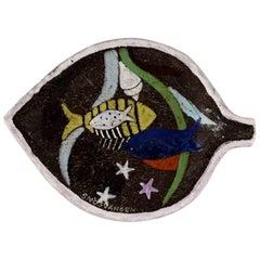 Anna-Lisa Thomson for Upsala-Ekeby Ceramic Bowl Decorated with Fish