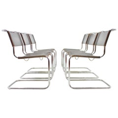 Mart Stam Steel Tube Dining Chair S33 by Thonet