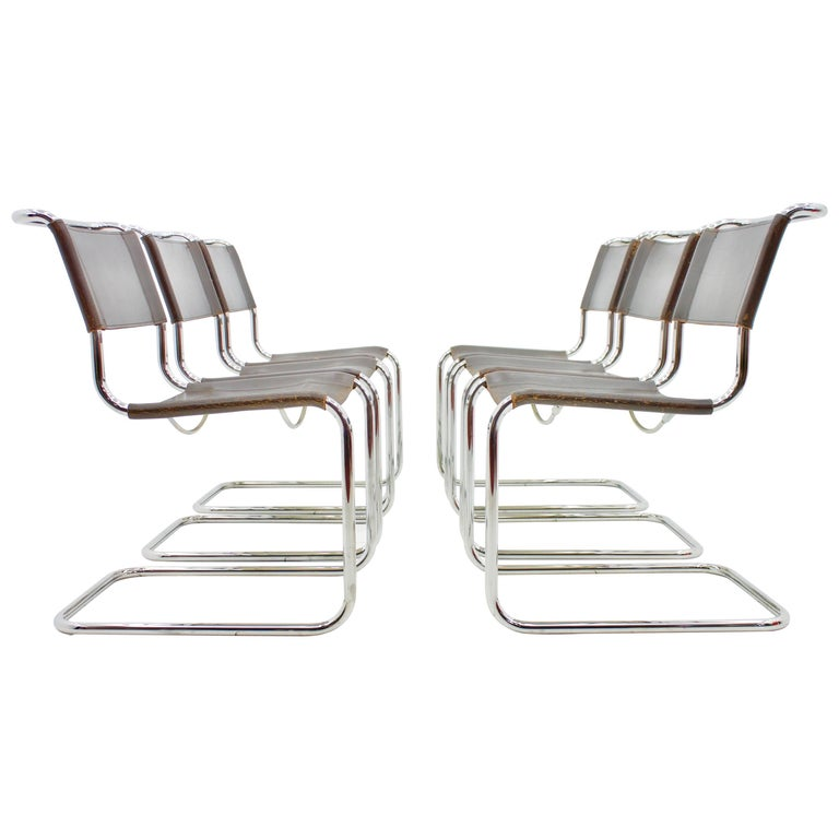 mart stam steel tube dining chair s33 by thonet at 1stdibs. Black Bedroom Furniture Sets. Home Design Ideas