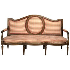 Fine Early 19th Century French Walnut Sofa of Large-Scale