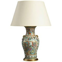 Mid-19th Century Canton Vase as a Lamp
