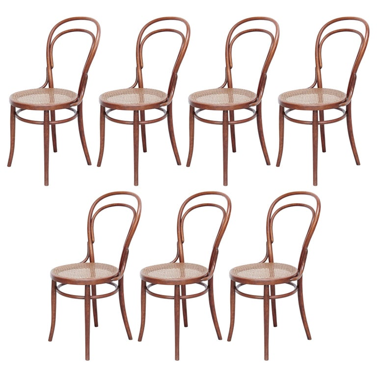 Set of Seven Türpe Bentwood Chairs