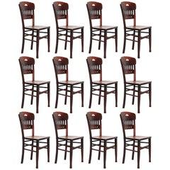 Set of Twelve Luterma Bistro Chairs