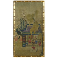 19th Century Watercolor on Silk