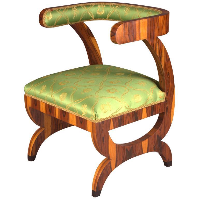 Armchair after Josef Danhauser Vienna in Biedermeier Style For Sale
