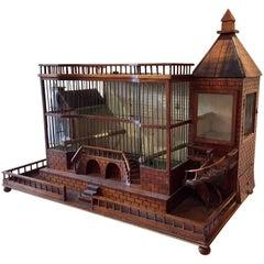 Antique 19th Century Decorative Architectural Bird Cage