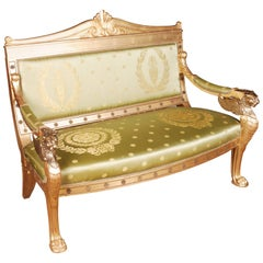 Imperial Stylish Lion Salon Couch in Empire Style