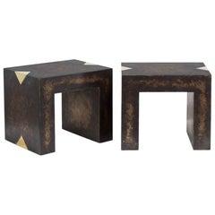 Rectangular Bronze Collection Brass Side Tables by Talisman Bespoke