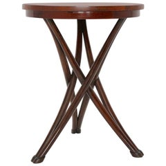 Bentwood Vintage Game Table No 13 by August Thonet, circa 1880, Vienna
