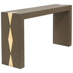 Crackle Console Table by Talisman Bespoke 'Bronze and Gold'