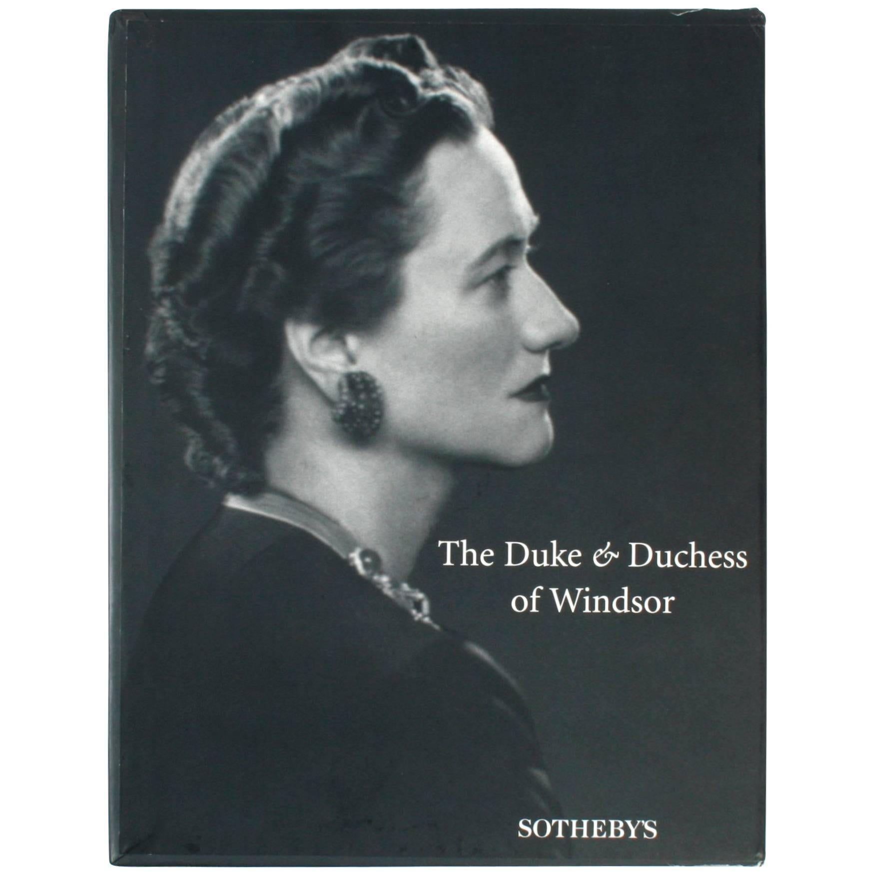 """Sotheby's """"The Duke and Duchess of Windsor Auction"""" Book"""