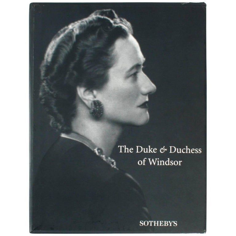 "Sotheby's ""The Duke and Duchess of Windsor Auction"" Book"