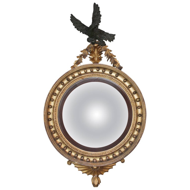Regency convex mirror for sale at 1stdibs for Convex mirror for home