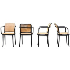 Josef Frank and Josef Hoffmann Vintage Set of 4 No.811 Thonet Chairs