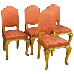 20th Century Group of Four Spanish Golden Chairs