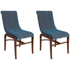 Restored pair of French Art Deco Chairs Designed by Jules Leleu - 1920-1929