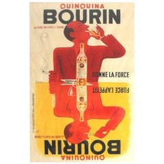 Very Large 1937 Wine Liquor Beverage French Art Deco Street Poster