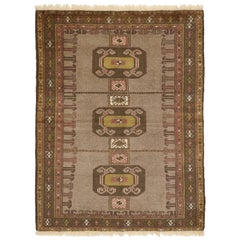 Vintage Persian Shiraz Tribal Rug, Perfect for Kitchen, Foyer or Entryway Rug