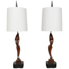 Pair of Mid-Century Heifitz Lamps