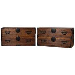 Antique Japanese Two-Piece Tansu