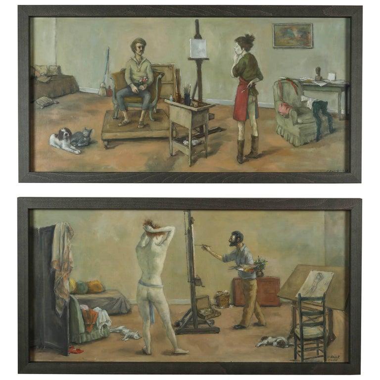 1968 & 1969 Paintings by American Artist, Alexander Brook 1