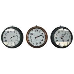 1960 Original IBM Industrial Factory Wall Clock in Solid Copper