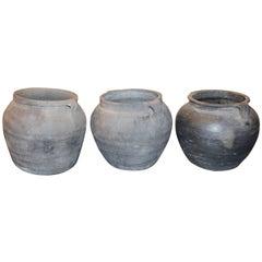 Vintage Gray Jar with Handles