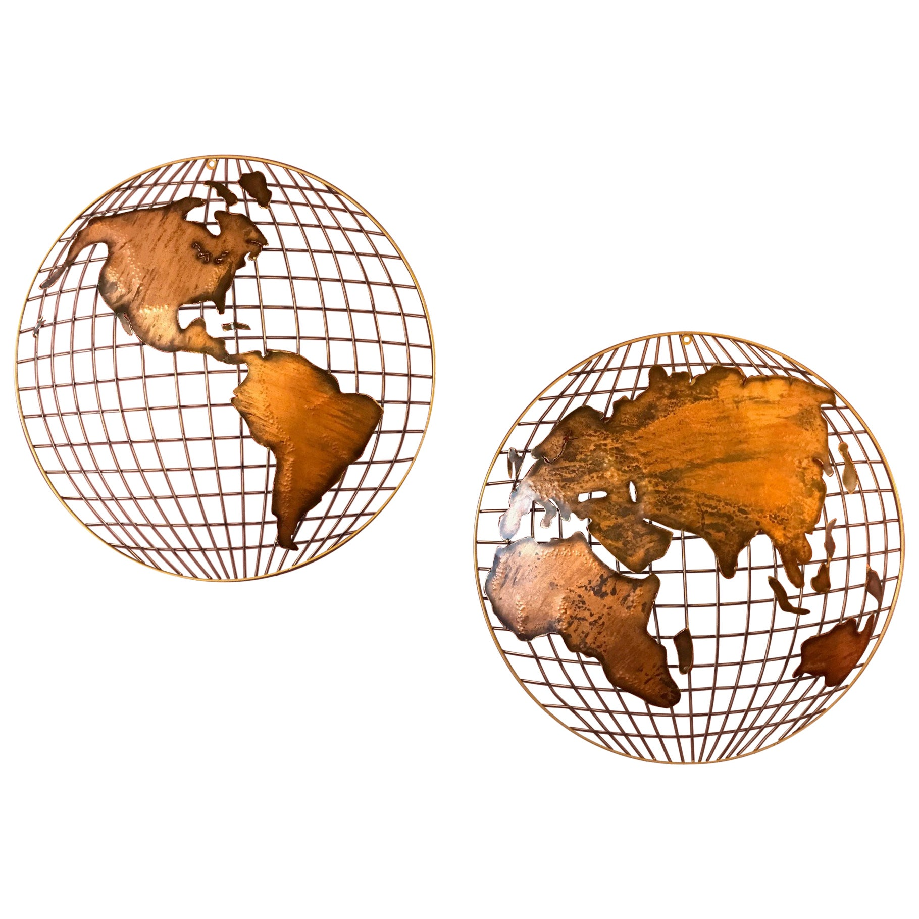 Curtis Jere Globe Wall Sculpture