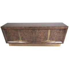 Wiliam Doezema Burl Wood Credenza for Mastercraft