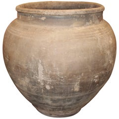 Vintage Terra-Cotta Gray Extra Large Pot