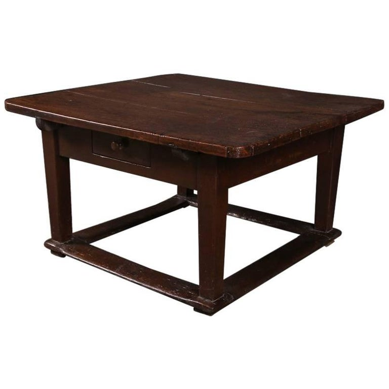 19th Century Elm And Fruitwood Low Table At 1stdibs
