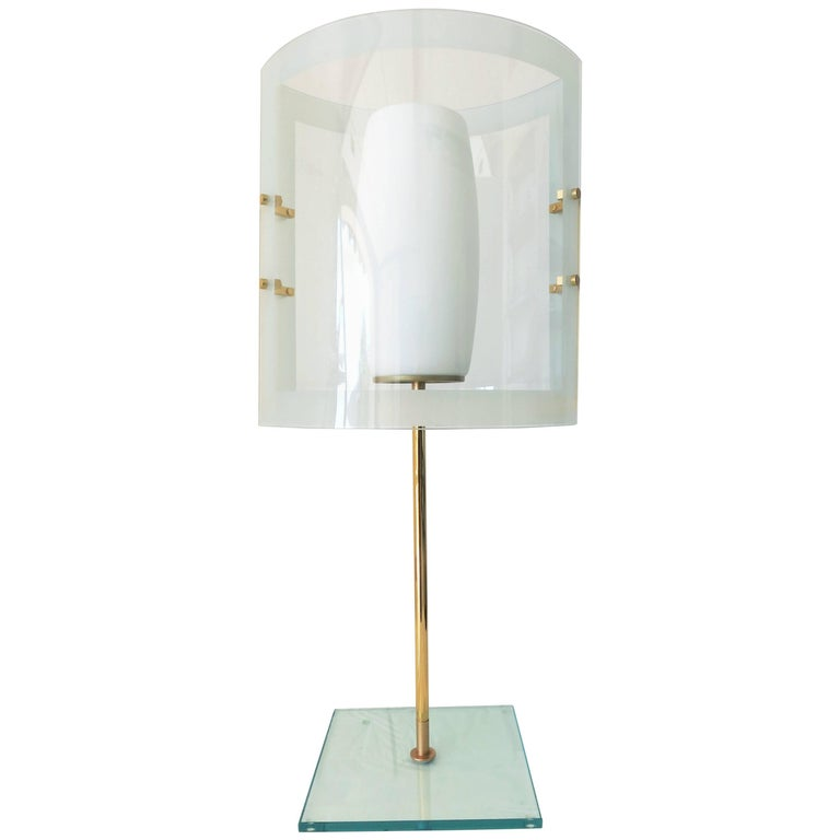 Italian Vintage Table Lamp in the Style of Fontana Arte