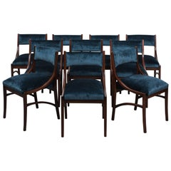 Ico Parisi Set of Six Dining Chairs, Italy, 1960s