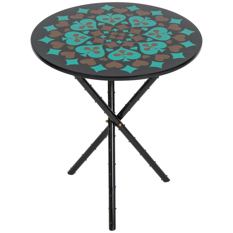 Piero Fornasetti Side Table, 1960s For Sale