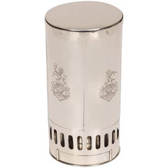 Fine and Rare Silver Travel Lamp
