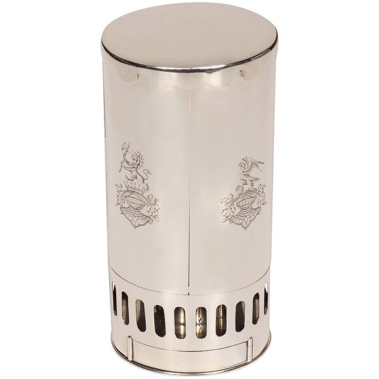 Fine and Rare Silver Travel Lamp