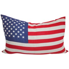 Large 48 Star Embroidered Flag Pillow