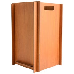 Danish Wood Worker Teak Puzzle Waste Bin in Teak with Interlocking Sides