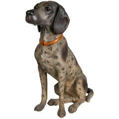 Austrian Hound Lifesize Cold Painted Antique