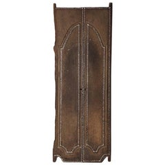 Antique Teak Wood Temple Door with Shell Inlay