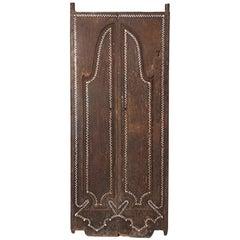 Antique Teak Wood Temple Door with Shell Inlay